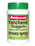 Baidyanath Kanchanar Guggulu 80Tabs - Thyroid Diseases & Glandular Enlargements - Pack of 2