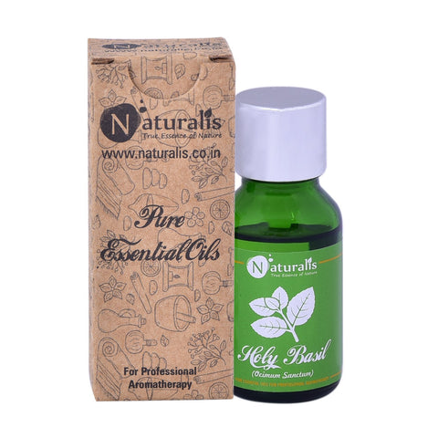 Naturalis  Holy Basil Essential Oil (Tulsi) 15 ML - Promotes Hair Growth, Digestion, Cures Skin Diseases