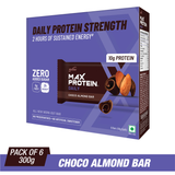 Ritebite Max Protein Daily Choco Almond Bars (50 Gm X 6)