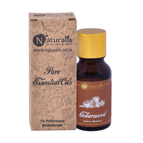 Naturalis Cedarwood Essential Oil (15 ML) - Aids Hair Growth, Cures Toothaches, Skin Diseases
