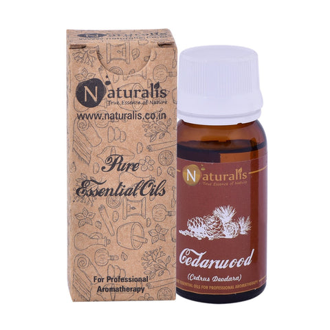 Naturalis Cedarwood Essential Oil (30 ML) - Aids Hair Growth, Cures Toothaches, Skin Diseases