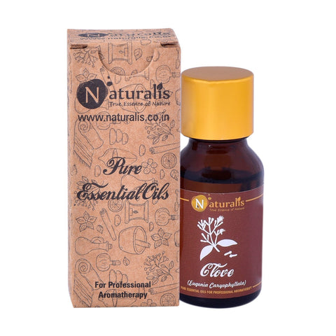Naturalis Clove Essential Oil (15 ML) for Skin Diseases, Toothaches, Indigestion, Cough, Asthma, Headache, Stress & Blood Impurities