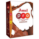 Amul Pro Whey Protein - Malt Beverage With Dha Chocolate, 500 Gm (Carton)- Pack of 2
