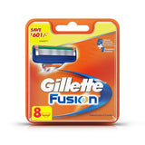Gillette Fusion Manual Shaving Razor Blades (Cartridge) 8's pack