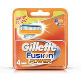 Gillette Fusion Power shaving Razor Blades (Cartridge) 4's pack