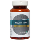 HealthKart Multivitamin with Multimineral, Amino Acids, Taurine & Ginseng Extract, 30 Tablets, Unflavoured