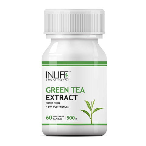 Inlife Green Tea Extract for Brain, Weight Loss, Cancer, Skin, Diabetes, Liver Function & Heart Disease