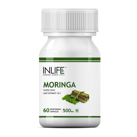 Inlife Moringa for Arthritis, Asthma, Cancer, Constipation, Diabetes, Stomach, Heart Problem, High BP & Kidney Stones