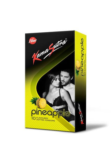 KamaSutra Excite Pineapple Condoms 10's - Pack of 3