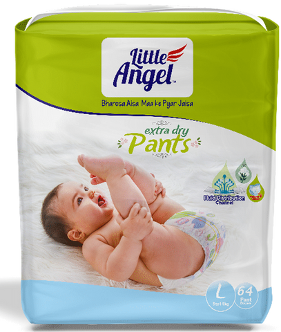 Little Angel Baby Pull Ups - Large (64 Pieces)