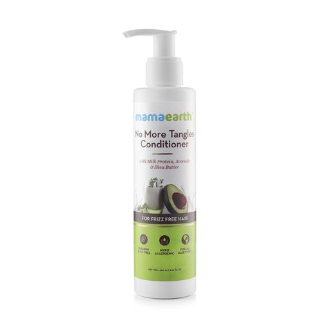 Mamaearth No More Tangles Hair Conditioner With Milk Protein, Fenugreek, Amla & Tea Tree, No Sulfates, No Silicones 200 ML