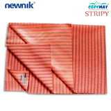 Newnik Cozymat Stripy Soft, Waterproof, Reusable Mat / Underpad / Dry Sheet / Absorbent Sheets / Mattress Protector, Large (100Cm*140Cm) Coral
