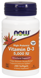 Now Foods Vitamin D3 5000 IU 240's Softgel