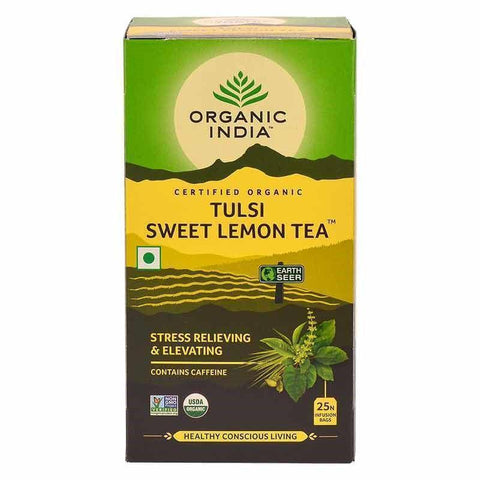 Organic India Tulsi Sweet Lemon Tea (25 Tea Bags) (Pack Of 2)