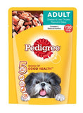 Pedigree Adult Pouch Chicken & Liver Chunks Dogfood 80 GM - Pack of 8