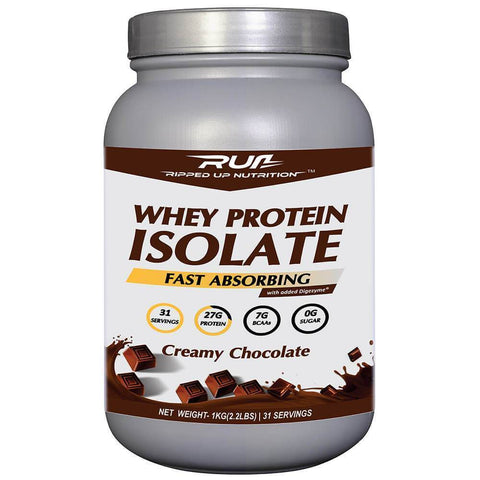 Ripped Up Nutrition Whey Protein Isolate Creamy Chocolate 1 Kg