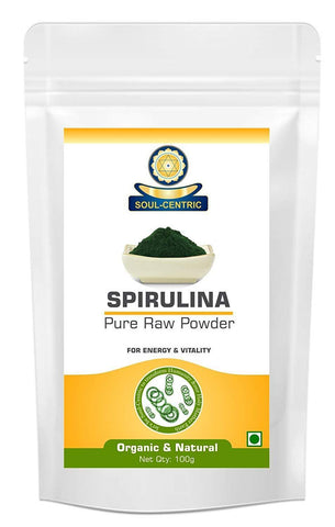Soul-Centric Organic Spirulina Powder For Improving B12, Omega 3s, & Amino Acids
