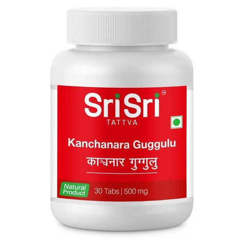 Sri Sri Tattva Kanchanara Guggulu 30 Tablets - Pack of 3