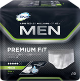 TENA Men Premium Fit Protective Underwear Level-4 - Large(127-142 cms) 10 Pcs - Adult Diapers