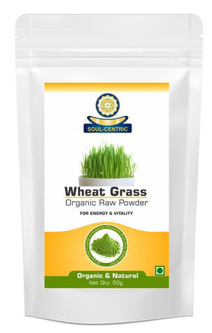 Soul-Centric Organic Wheat Grass Powder - Reduce Cholesterol, Heart Problems, Blood Sugar, Weight Loss