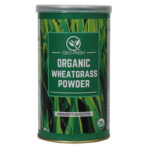 Geo Fresh Organic Wheat Grass Powder 100Gm For Weight Loss, Improve Immunity, Digestion & Arthritis