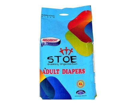 Stoe Adult Diapers - Extra Large (Pack Of 10)