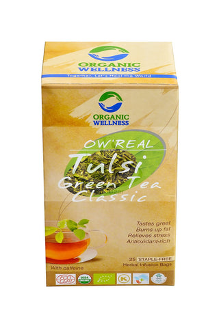 Organic Wellness Ow ' Real Tulsi Green Classic Tea (25 Tea Bag) For Weight Loss, Boost Immunity & Relives Stress