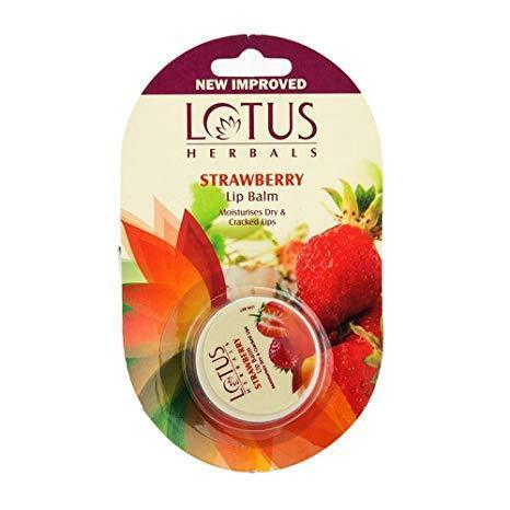 Lotus Herbals Lip Balm, Strawberry, 5Gm- Pack of 2