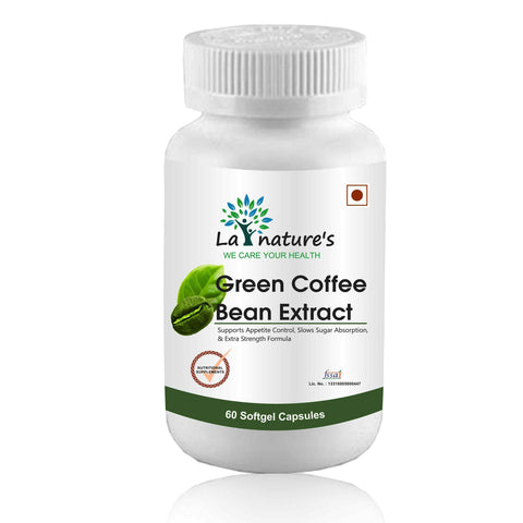 La Nature's Green Coffee Bean Extract 60 Softgel Capsules