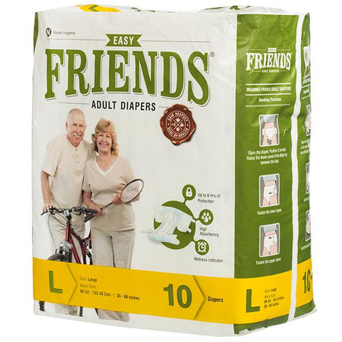 Friends Adult Diapers - 10 Count