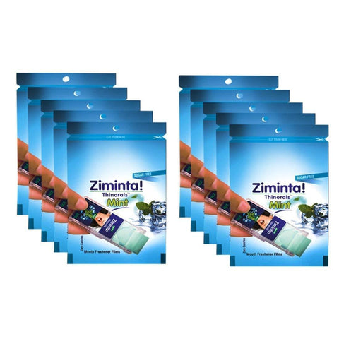 Ziminta Sugar Free Mint Mouth Freshener Blue (Pack Of 10*30 Strips)