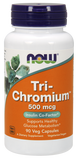 Now Foods Tri-Chromium 500 Mcg 90's Veg Capsule