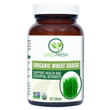 Geo Fresh Organic Wheat Grass 90's Tablet - Boost Immunity, Maintain Blood Pressure & Liver Problems