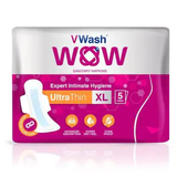 VWash Wow Sanitary Napkin Ultra Thin XL 5's Pads