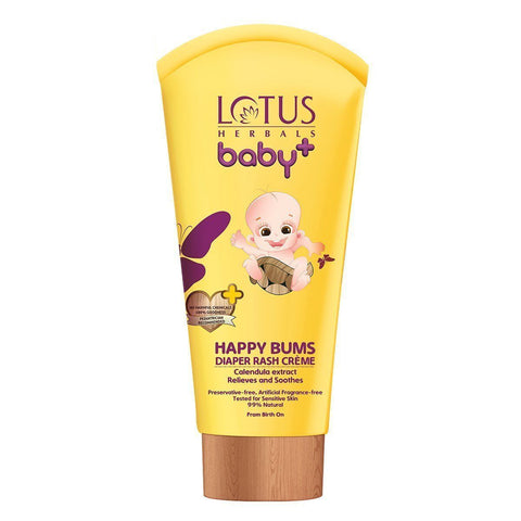 Lotus Herbals Baby+ Happy Bums Diaper Rash Crème 100 GM