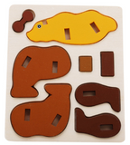3D Animals Wood Puzzles - The Montessori Store