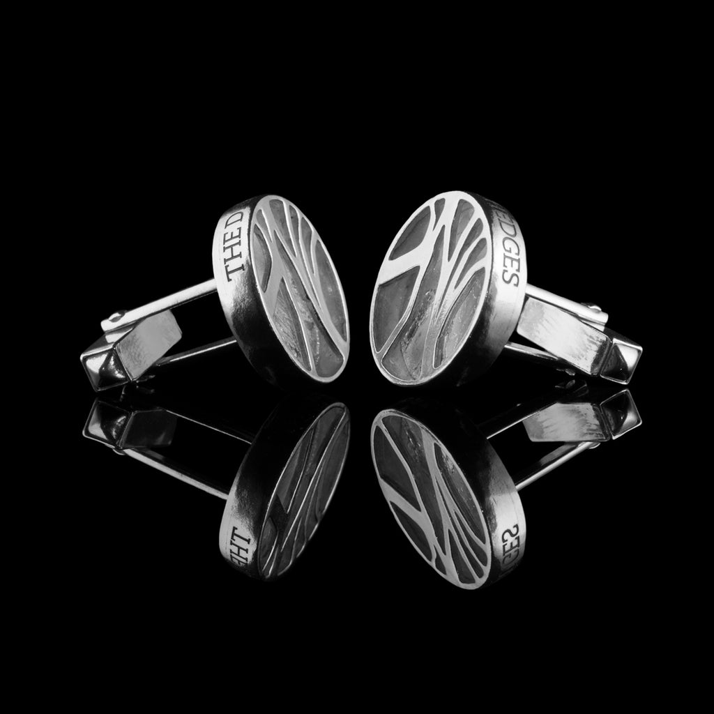 Solid Silver Cufflinks, Hallmarked and bespoke cufflink design commissions welcomed. Free UK Postage.