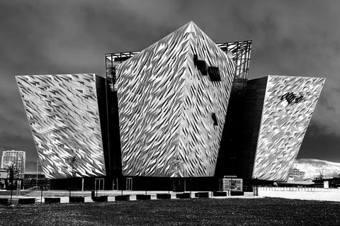 Titanic Belfast Visitors Centre - black and white image by NI Silver Jewellery