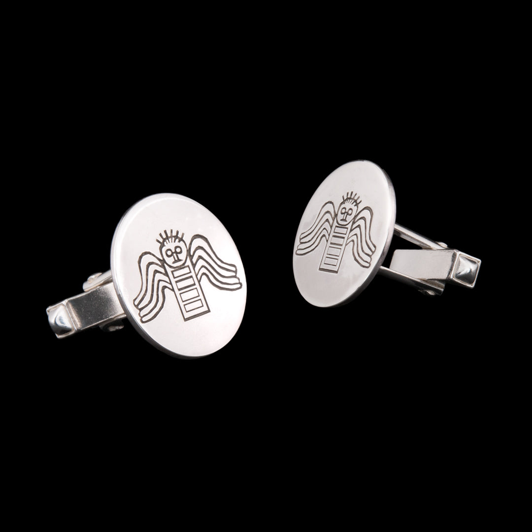 County Donegal Angel Silver cufflinks by NI Silver Jewellery
