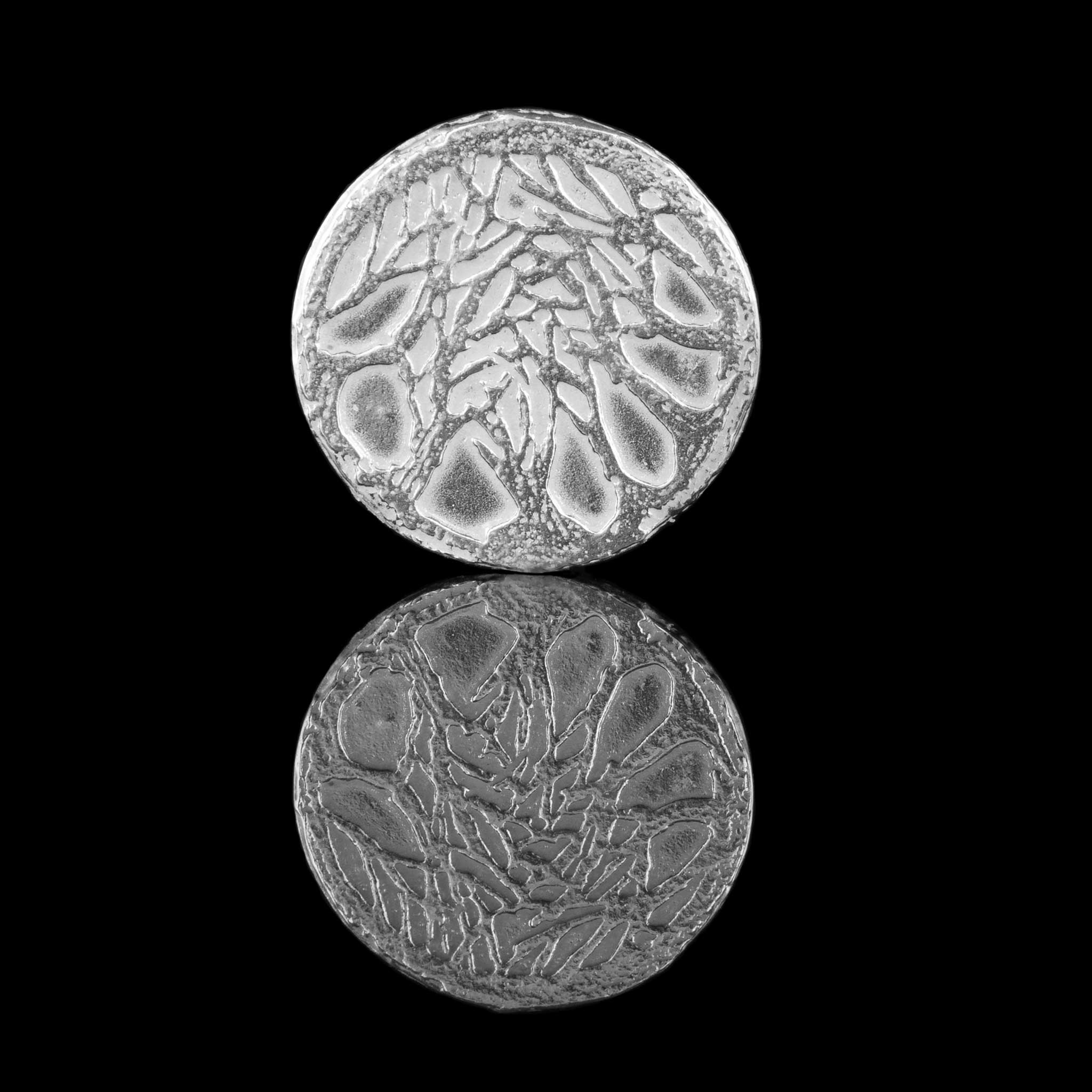 Sterling Silver Dark Hedges Lapel Pin with tree design to front side. Made in Uk by NI Silver Jewellery designers