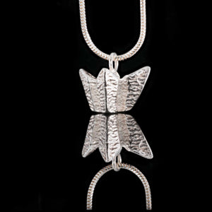 Titanic Belfast Silver Necklace - Our Northern Irish Jewellery Designer created this necklace to be half of the Titanic Visitor's Centre.  Solid sterling silver its rear flat edge sits against the skin.