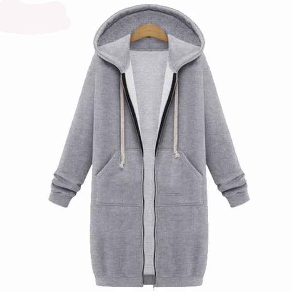 HOODIES ZIP-UP LONG COAT