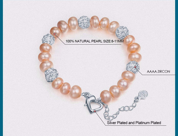 Hot Sale Gorgeous Jewelry Chain & Link Freshwater Pearl Bracelets