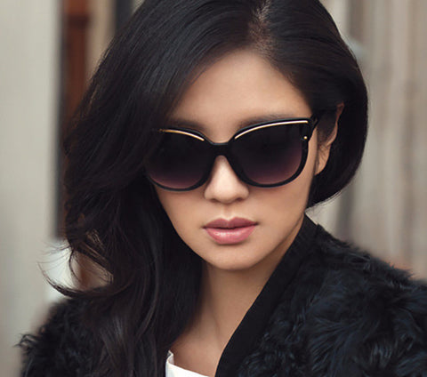 CAT-EYE FRAME SUNGLASSES