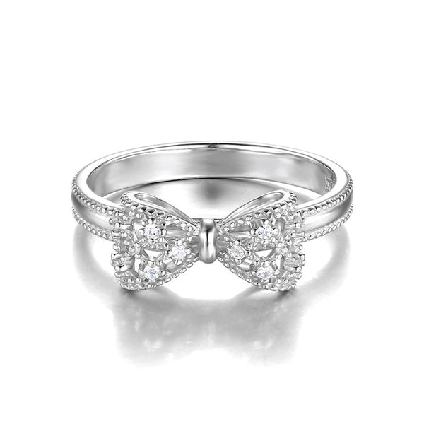 Hot Fashion Soild 925 Sterling Silver Ring *Popular Trendy Classic 925 Sterling Platinum Ring *Great Jewelry Gift For Girl Friend, Wife or Mum On Birthday, Party, Wedding Anniversary & Special Day