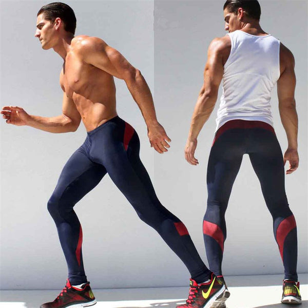 Men Lightweight High Stretch Tight Compression Joggers Pants *Fashion Sexy Low Waist Tight High Stretch Men Joggers Long Sweatpants