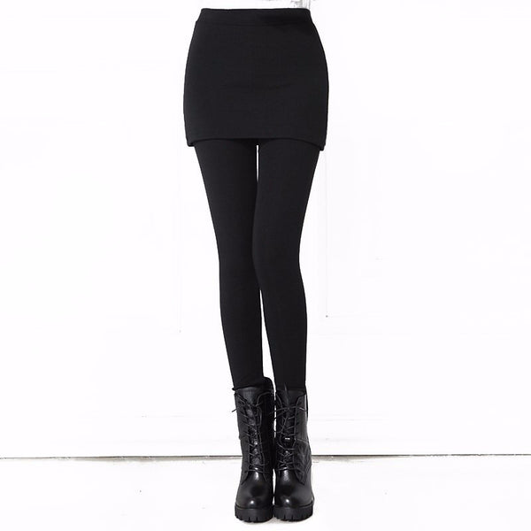 Women Fashion Slim Fit Legging With Mini Skirt *2017 Hot Selling Slim Fit Stretchable Pant-skirt Legging