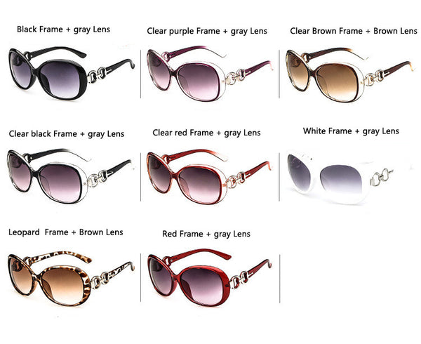 Brand Designer Vintage Frame 8 Colors Gradient Lens Women Sunglasses