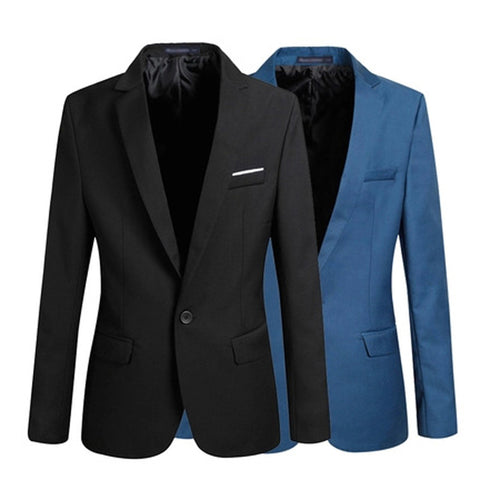 Men Fashion Slim Fit Business / Formal Single Button Blazer *Simple Slim Fit Waist Cut Style Single Button Men Suits / Jacket / Blazer / Coat * Button Men Suit *Formal Men Jacket provide four color and Plus Size