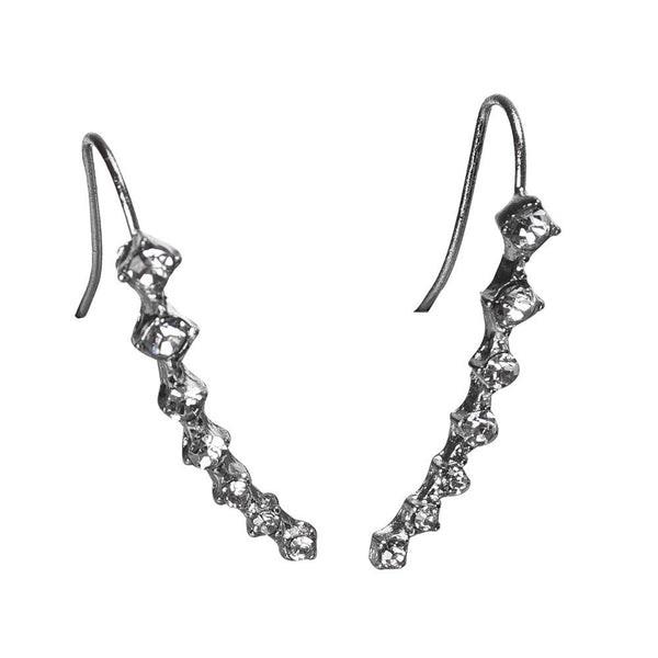 Fashion Crystal Rhinestone Sliver Earrings *Stunning Sliver Ear Hook Jewelry